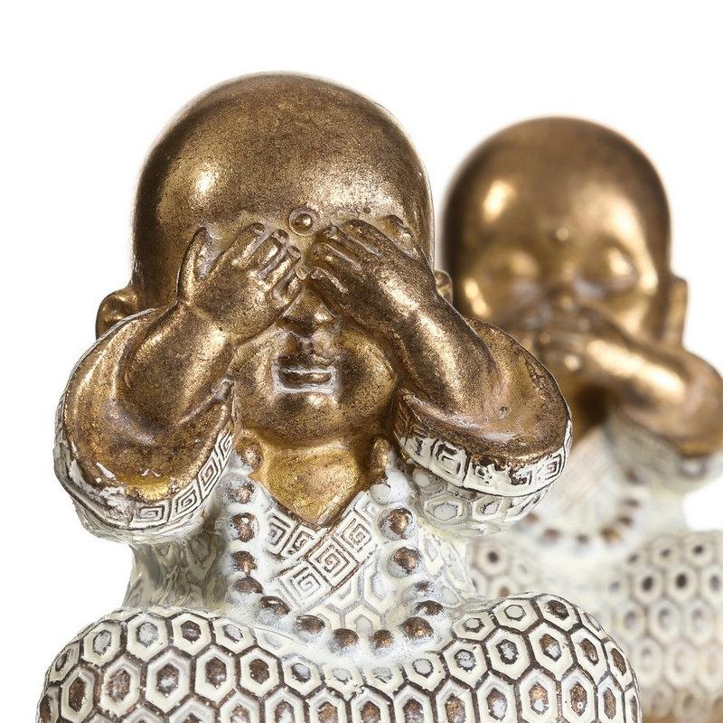 Set 3 Figurita Buda De Suerte Decoracion 22 Cm D Casa Ver Oir Callar Figuritas Champintertrade Decoración Del Hogar