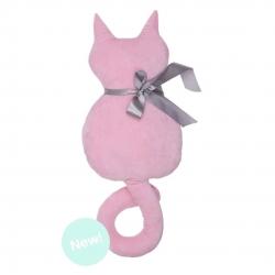 Cojin original en forma gato rosa