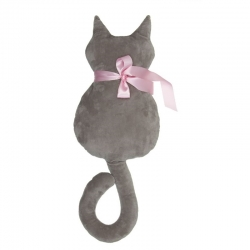 Cojin original en forma gato marron