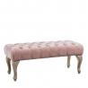 Banqueta de pie de cama de madera rosa romántica para dormitorio France