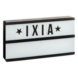 Caja de luz Lightbox negro con 2 líneas letras incluido