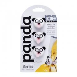 Set de 3 cierra bolsas panda