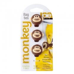 Set de 3 cierra bolsas monkey