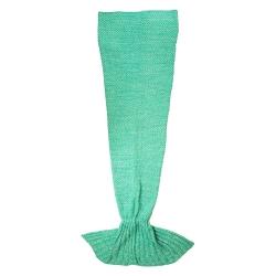 Manta de sofá sirena turquesa de poliéster para salón Iris 180x90 cm