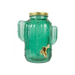Dispensador de bebidas cactus verde con grifo para 4 litros .