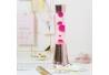 Lampara de Lava Color Oro Rosa 40cm liquido Transparente magma Magenta. Metal y Cristal