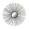 Espejo de pared industrial negro espiral decoracion Vitta 76 cm