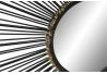 Espejo de pared industrial negro cuadrado decoracion factory 71x71 cm