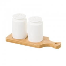Salero de mesa de porcelana blanco nórdico para comedor Basic