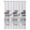 Cortina de baño moderno gris stone 180x200 cm