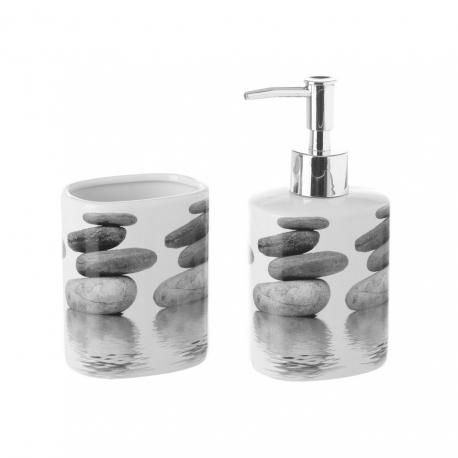 Set baño 2 piezas ceramica stones