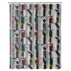 Cortina de baño moderno gris Love 180x200 cm