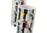 Set baño 2 piezas ceramica gris love