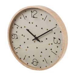 Reloj de pared de madera beige nórdico para cocina Vitta