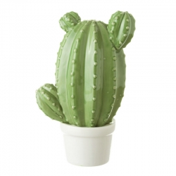 Maceta ceramica cactus verde decorativa .