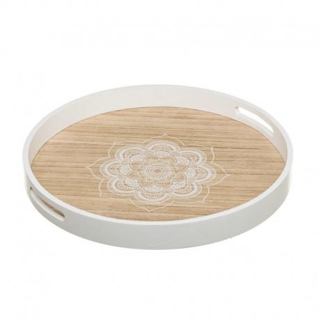 Bandeja de desayuno de madera blanca moderna para cocina Arabia
