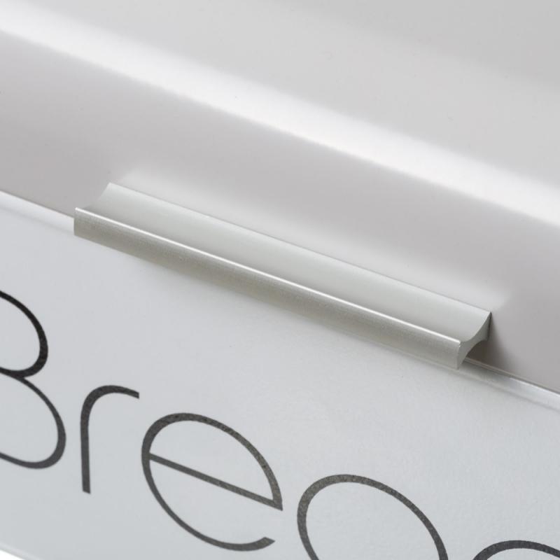 Panera de metal blanca de mesa vintage para cocina.| Dcasa.es
