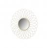 Espejo flor dorado de metal minimalista para decoración de 49 cm France