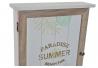 Guardallaves de madera natural Hojas verde