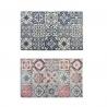 Pack 2 alfombras vinilo azulejos 75x45 cm