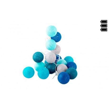 Bolas azules de Algodón Luz led 6x300 cm