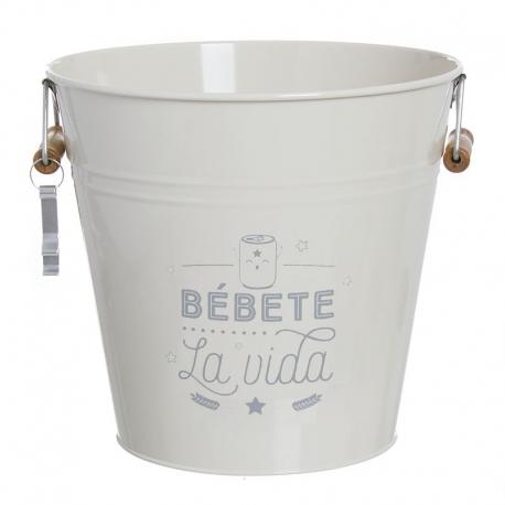 "Cubitera 12 litro con abridor ""BÉBETE LA VIDA"""