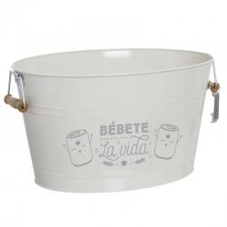 "Cubitera 18 litro con abridor ""BÉBETE LA VIDA"""