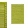 Alfombra pasillera oriental verde de bambú de 60 x 90 cm Sol Naciente