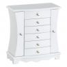 Joyero cuelga joyas blanco de madera vintage para dormitorio Vitta
