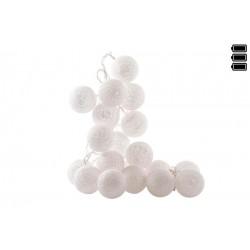 Bolas blanca de Algodón Luz led 6x300 cm muy romantico por noche
