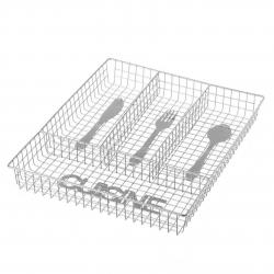 Bandeja para cubiertos cuisine metal cromado