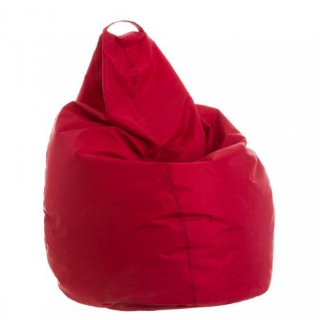 Puff pera de color rojo para salon .