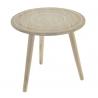 Mesa de madera mandala color blanco 45x45x42 cm