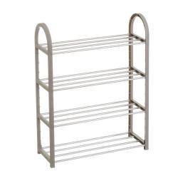 Zapatero basico metal 4 nivel gris