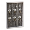 Guardallaves de madera Keys gris 6 colgador
