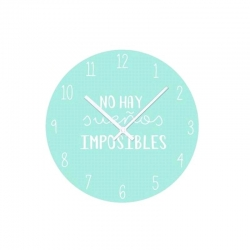 Reloj de pared diseño original frases divertido colores