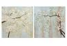 Set 2 cuadro lienzo almentro pintado a mano