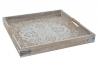 Bandeja de madera envejecido mandala 37x37x4 cm