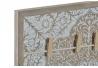 Panel portafotos con pinzas de madera natural mandala