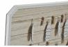 Portafotos con pinzas de madera natural Boho