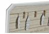 Portafotos con 4 pinzas de madera natural Boho