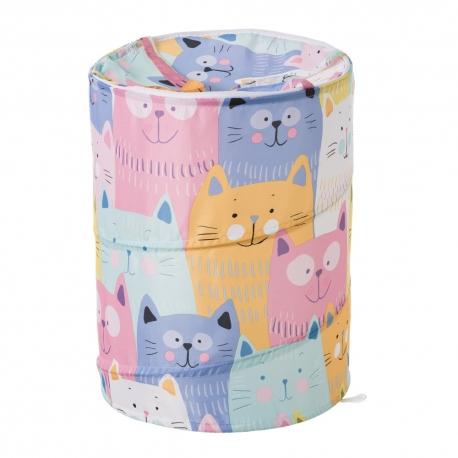 Cesto pongotodo para ropa gatos