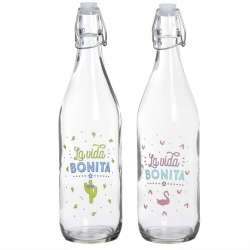 "Botellas de agua con flase ""VIDA BONITA"" ( Pack 2 botellas )"