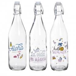Botellas de agua con diseño Summer ( Pack 3 botellas )