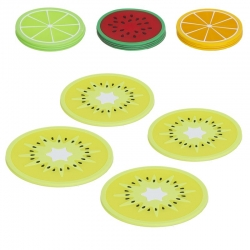 Set 16 posavasos de cristal de frutas