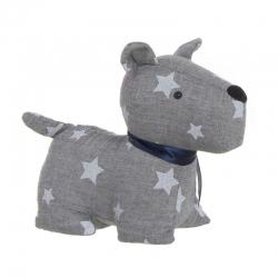 Tope de puerta perro color gris estrellas