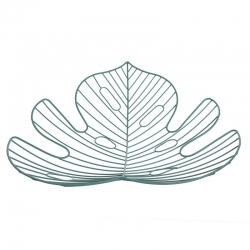 Centro de mesa metal hoja tropical