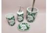 Set de baño moderno tropical de cerámica para cuarto de baño .