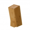Soporte de cuchillos nórdico marrón de bambú para cocina Sol Naciente