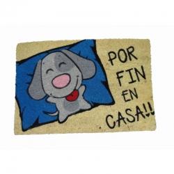 Felpudo Fin en Casa Perro, Coco, 60x40